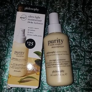 Purity made simple moisturizer but philosophy